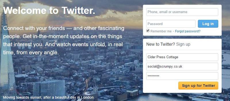 Setting up a Twitter Account For Your Property - Scrumpy Support